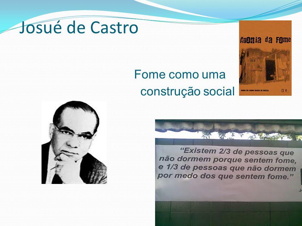 Josué de Castro Fome como uma construção social