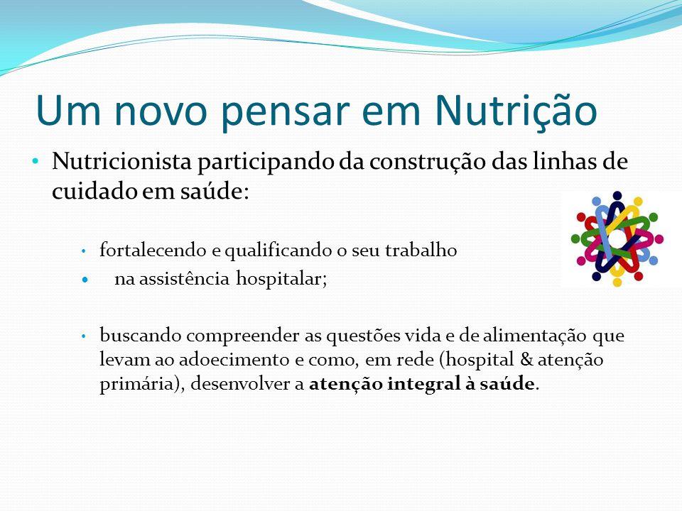 Um novo pensar em Nutrição Nutricionista participando da construção das linhas de cuidado em saúde: fortalecendo e qualificando o seu trabalho na assi