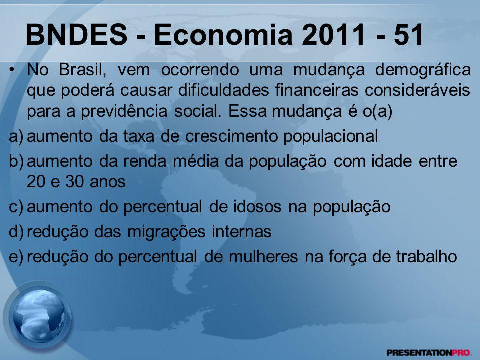 No Brasil, vem ocorrendo uma mudança demográfica que poderá causar dificuldades financeiras consideráveis para a previdência social. Essa mudança é o(