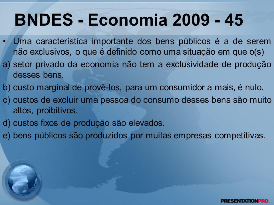 Uma característica importante dos bens públicos é a de serem não exclusivos, o que é definido como uma situação em que o(s) a)setor privado da economi
