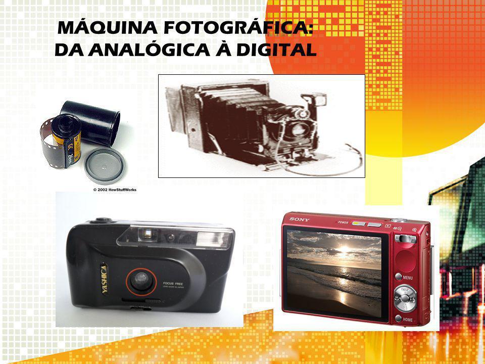 MÁQUINA FOTOGRÁFICA: DA ANALÓGICA À DIGITAL