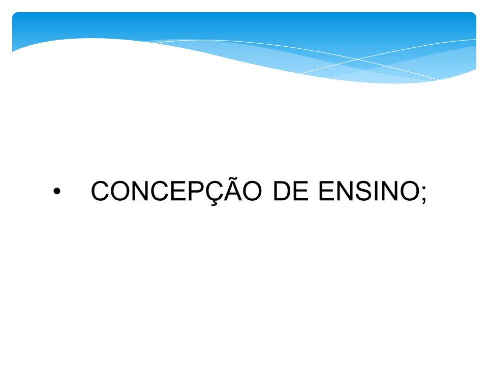 CONCEPÇÃO DE ENSINO;