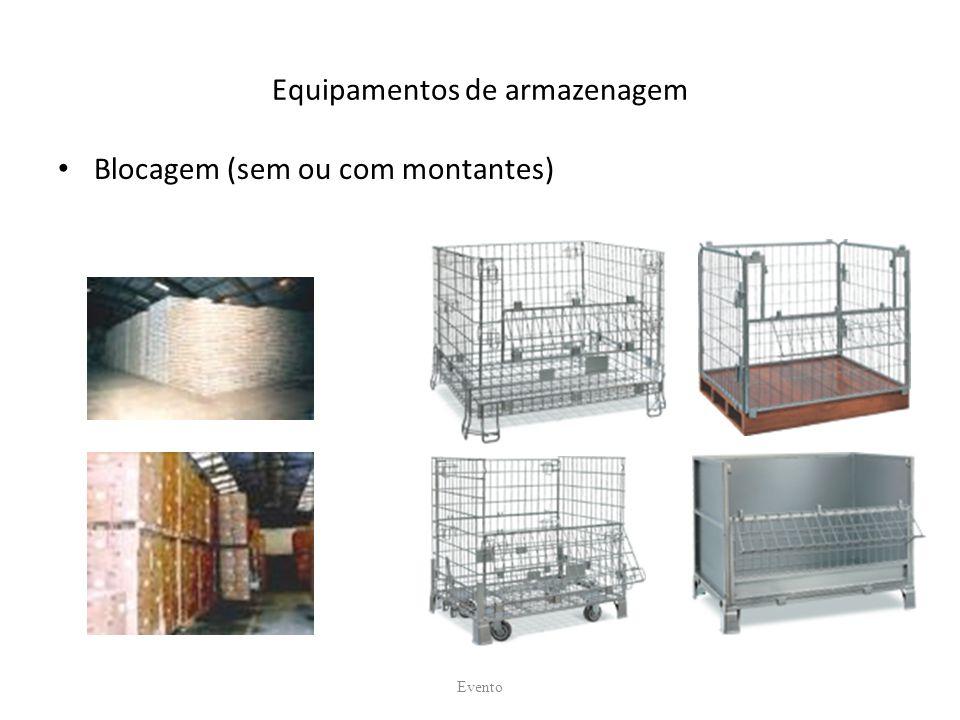 Equipamentos de armazenagem Blocagem (sem ou com montantes) Evento