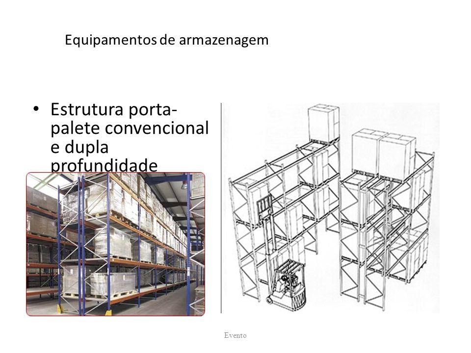 Equipamentos de armazenagem Estrutura porta- palete convencional e dupla profundidade Evento