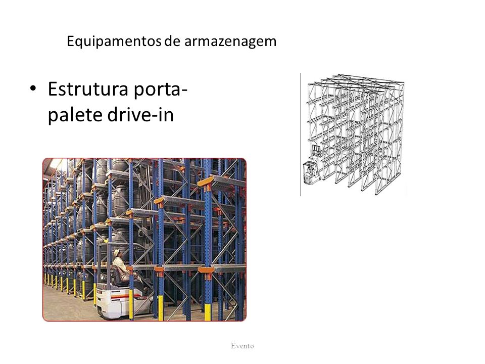 Equipamentos de armazenagem Estrutura porta- palete drive-in Evento