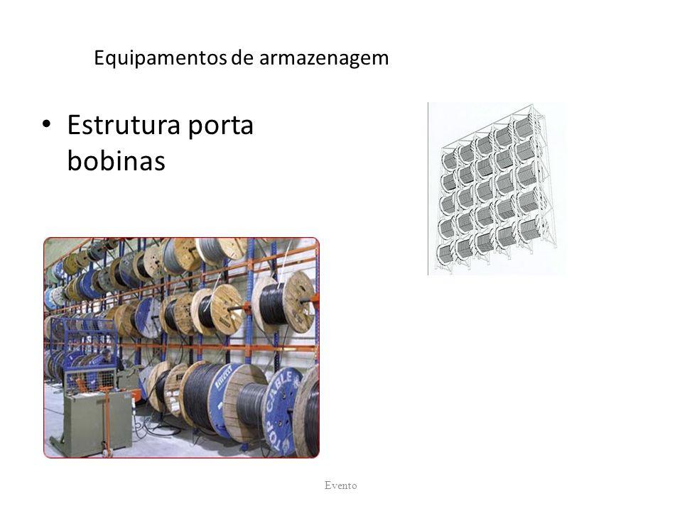 Equipamentos de armazenagem Estrutura porta bobinas Evento