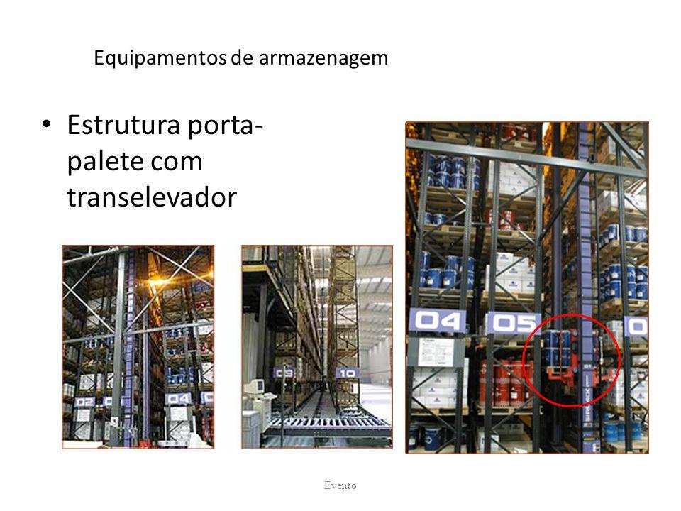 Equipamentos de armazenagem Estrutura porta- palete com transelevador Evento