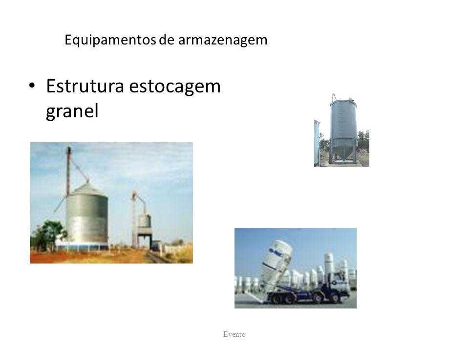 Equipamentos de armazenagem Estrutura estocagem granel Evento