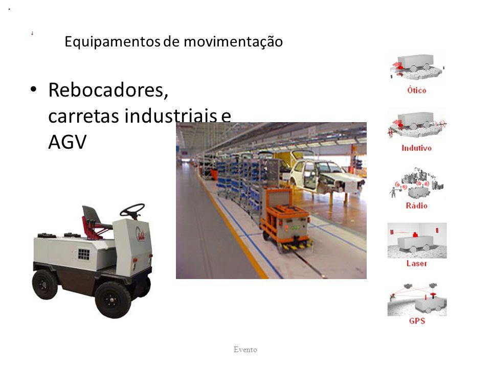 Equipamentos de movimentação Rebocadores, carretas industriais e AGV Evento
