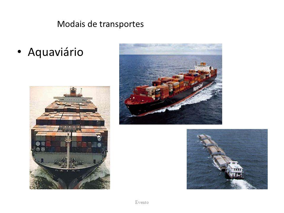 Modais de transportes Aquaviário Evento