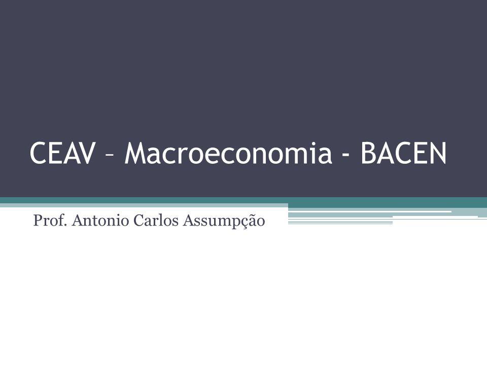 CEAV – Macroeconomia - BACEN Prof. Antonio Carlos Assumpção