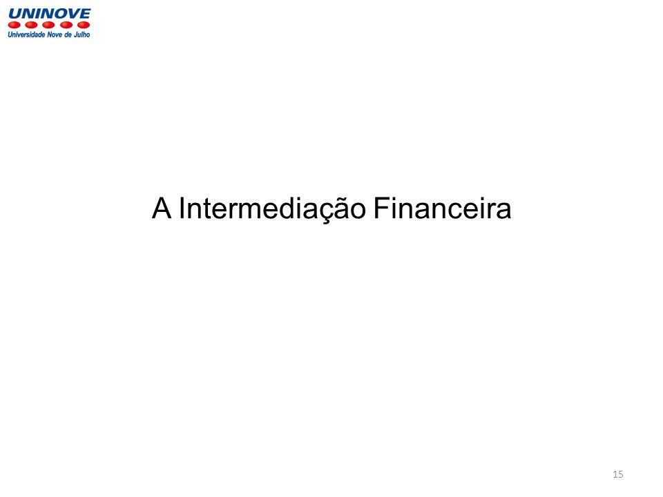 A Intermediação Financeira 15