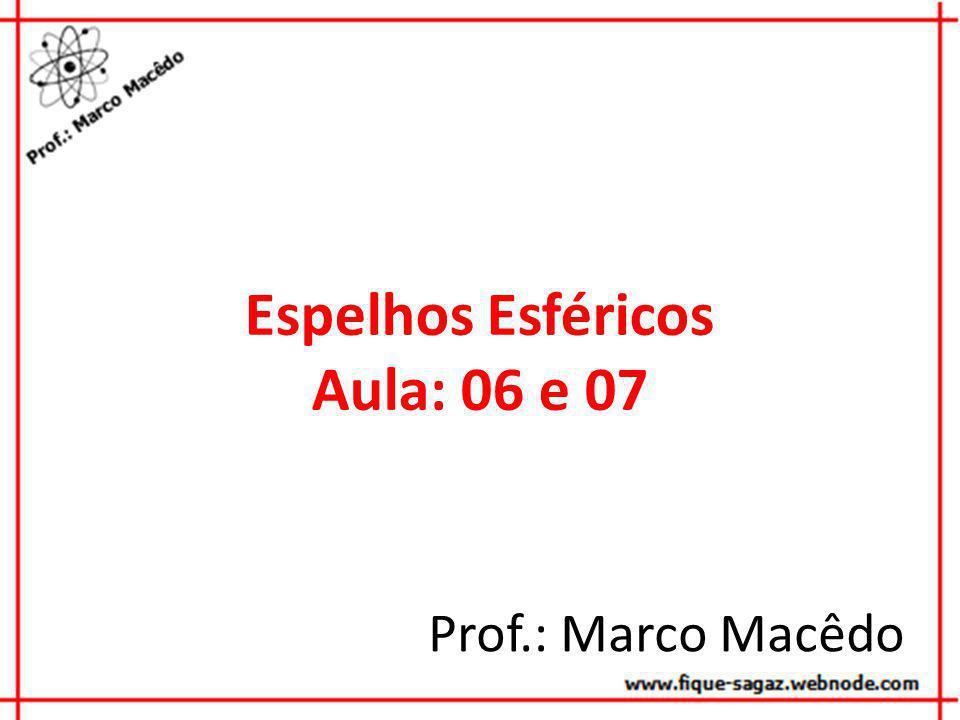 Espelhos Esféricos Aula: 06 e 07 Prof.: Marco Macêdo