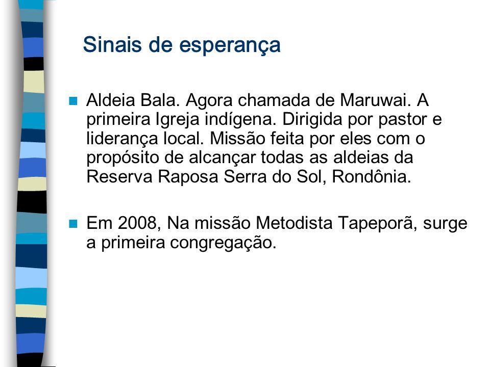Aldeia Bala. Agora chamada de Maruwai. A primeira Igreja indígena. Dirigida por pastor e liderança local. Missão feita por eles com o propósito de alc