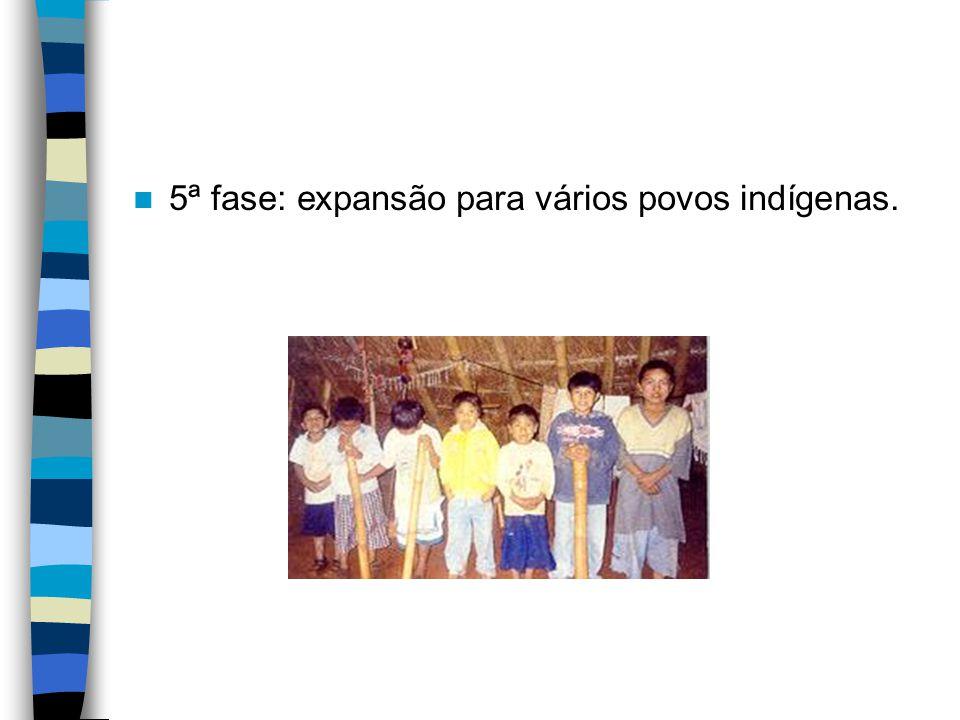 5ª fase: expansão para vários povos indígenas.