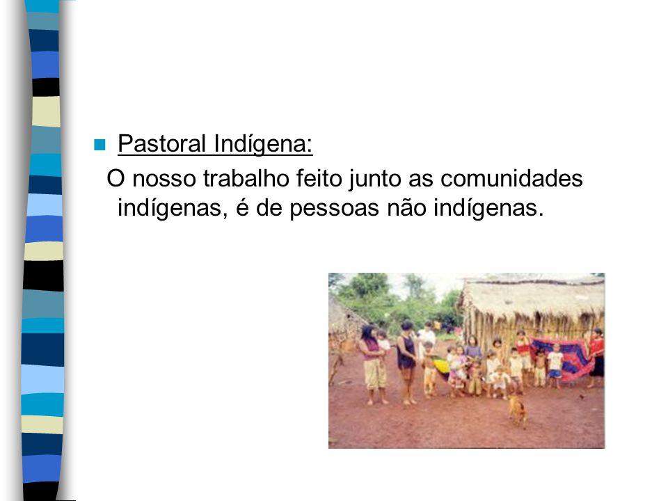 Isso exige da gente falar sobre pastoral indigenista desenvolvida por pessoas que apóiam, se solidarizam, que vão ao encontro dos anseios indígenas.