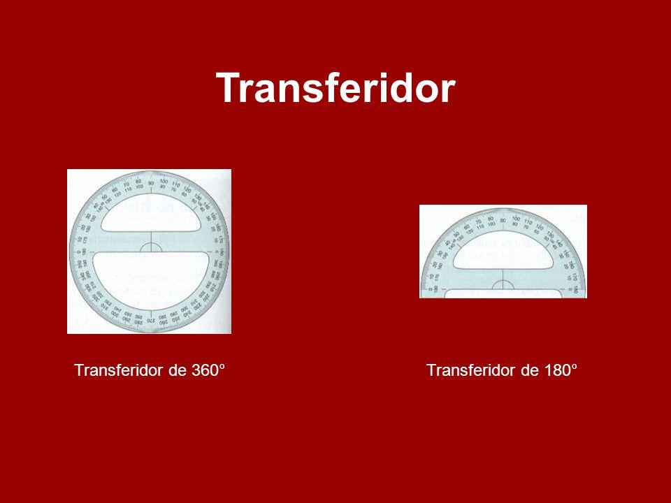 Utilizando o Transferidor Colocamos o transferidor de modo que o seu centro coincida com o vértice do ângulo.