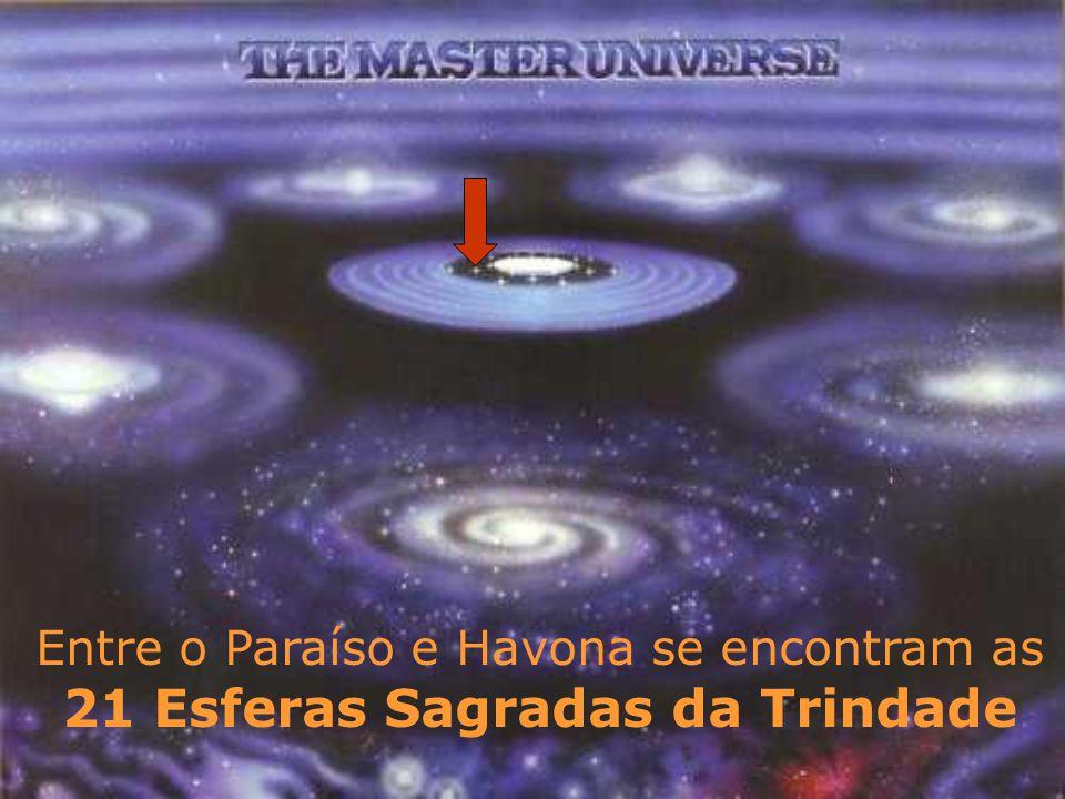 Entre o Paraíso e Havona se encontram as 21 Esferas Sagradas da Trindade