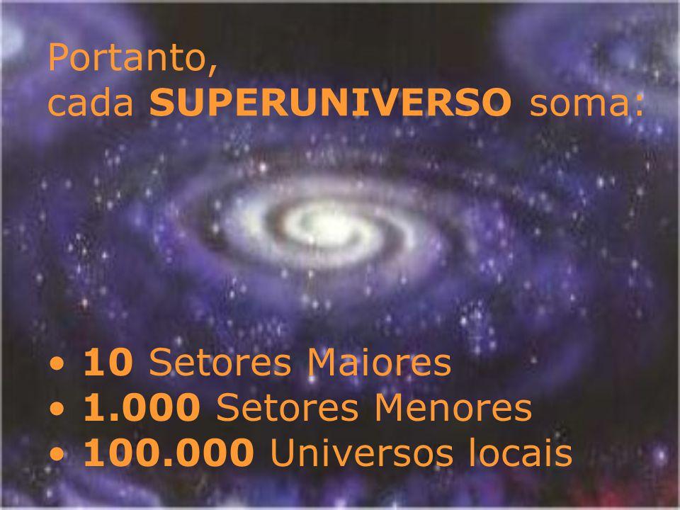 Um Universo Local é a obra pessoal de um Filho Criador do Paraíso Essa criação é constituída por 100 Constelações