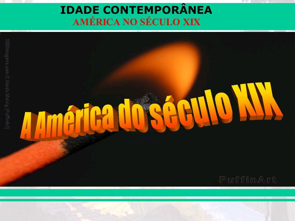 IDADE CONTEMPORÂNEA AMÉRICA NO SÉCULO XIX