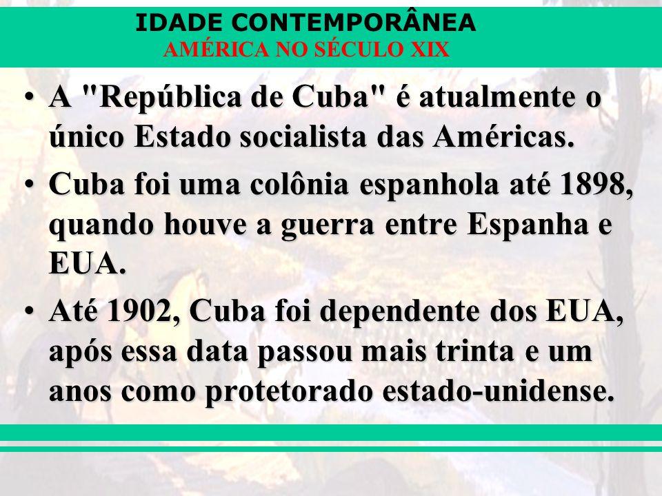 IDADE CONTEMPORÂNEA AMÉRICA NO SÉCULO XIX A