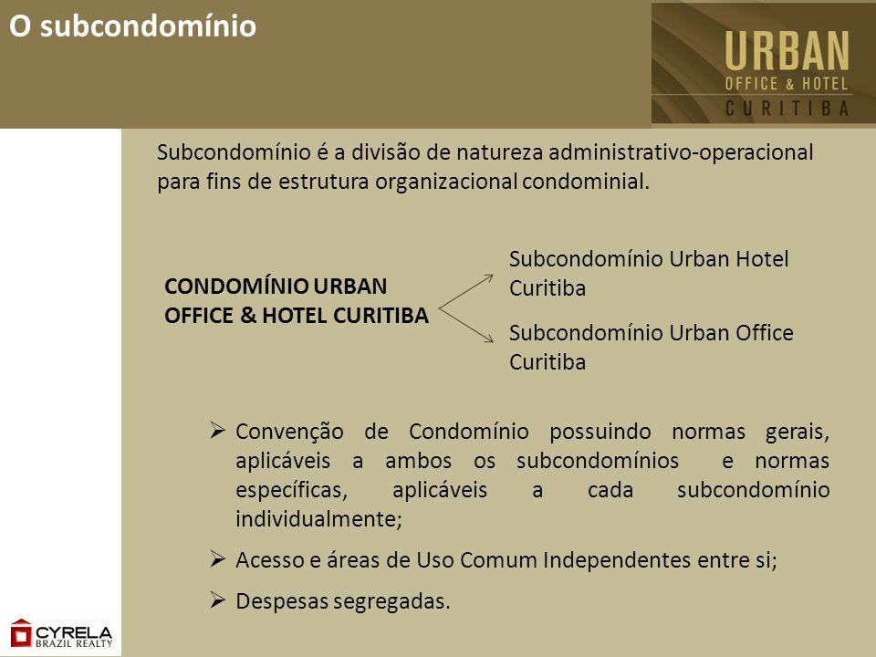 O subcondomínio Subcondomínio é a divisão de natureza administrativo-operacional para fins de estrutura organizacional condominial. Convenção de Condo