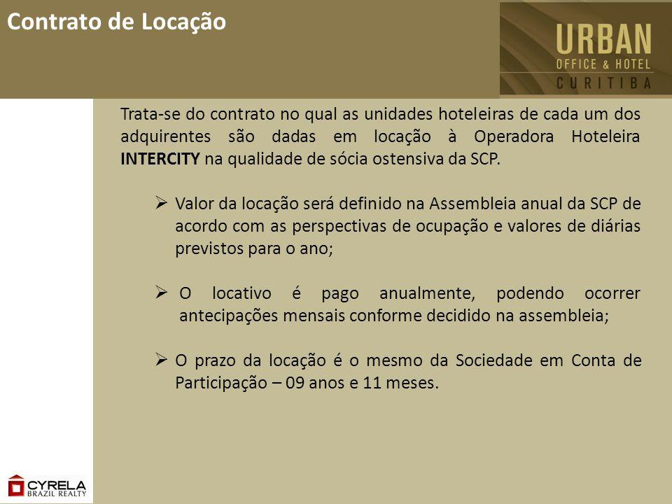 Contrato de Locação Trata-se do contrato no qual as unidades hoteleiras de cada um dos adquirentes são dadas em locação à Operadora Hoteleira INTERCIT