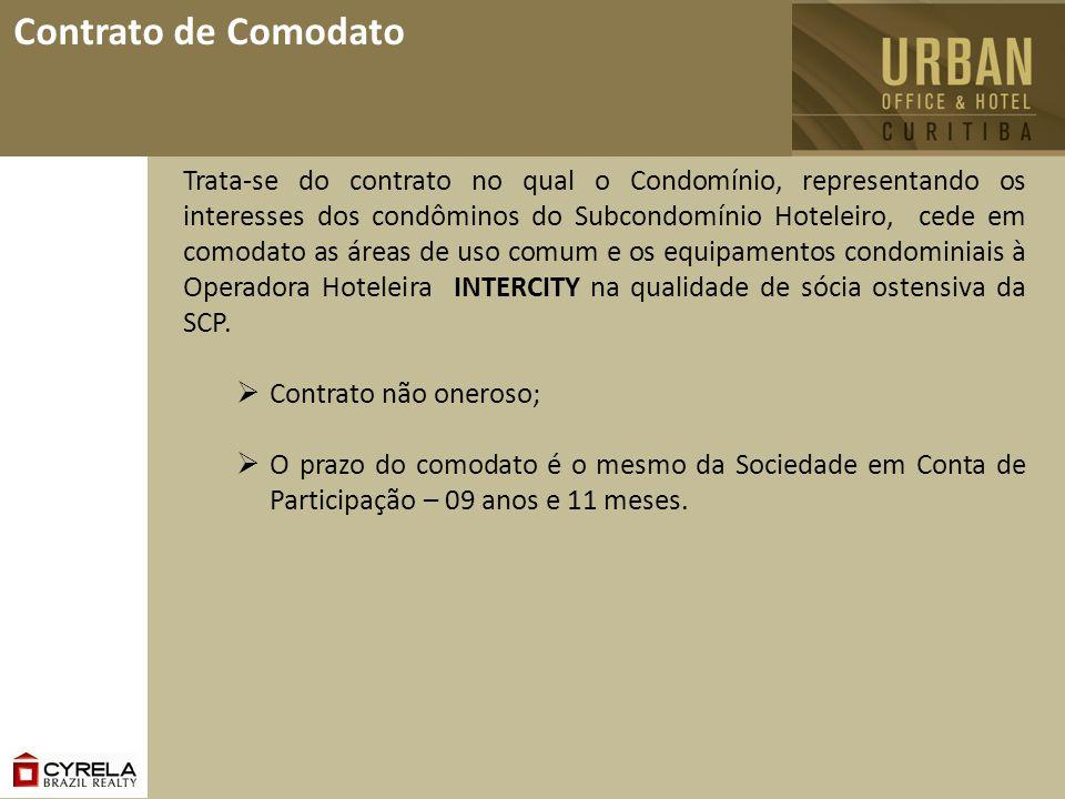 Contrato de Comodato Trata-se do contrato no qual o Condomínio, representando os interesses dos condôminos do Subcondomínio Hoteleiro, cede em comodat