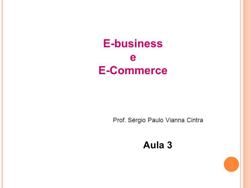 E-business e E-Commerce Prof. Sérgio Paulo Vianna Cintra Aula 3