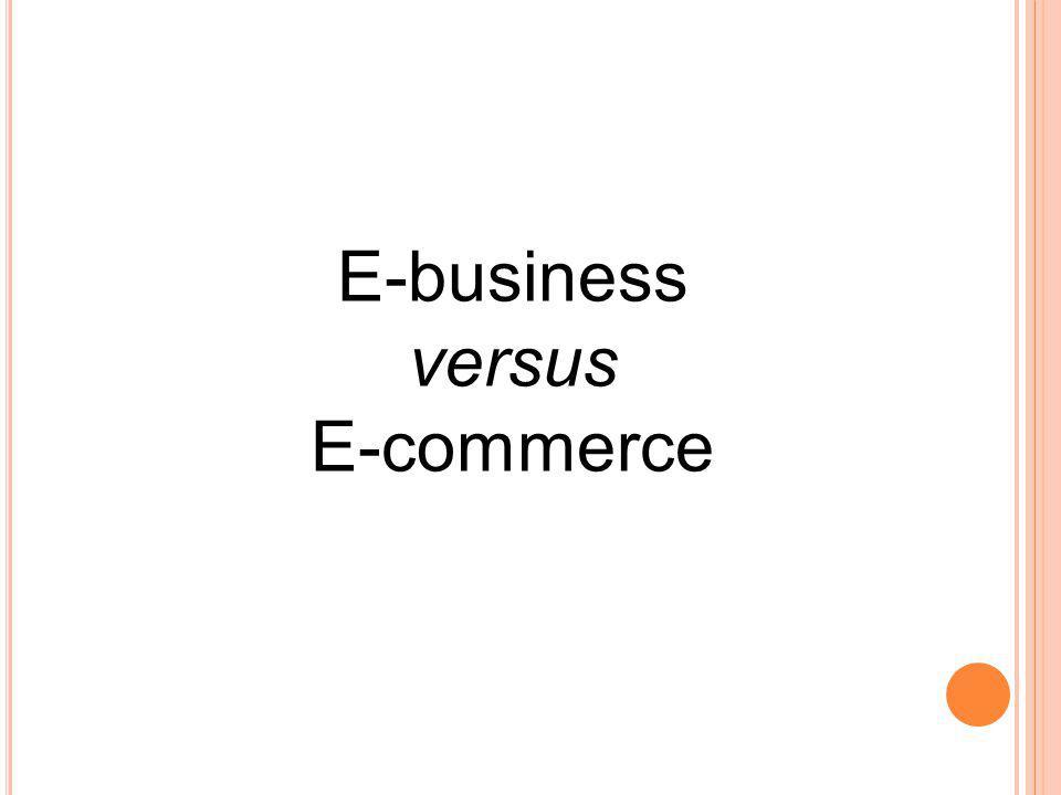 E-business versus E-commerce