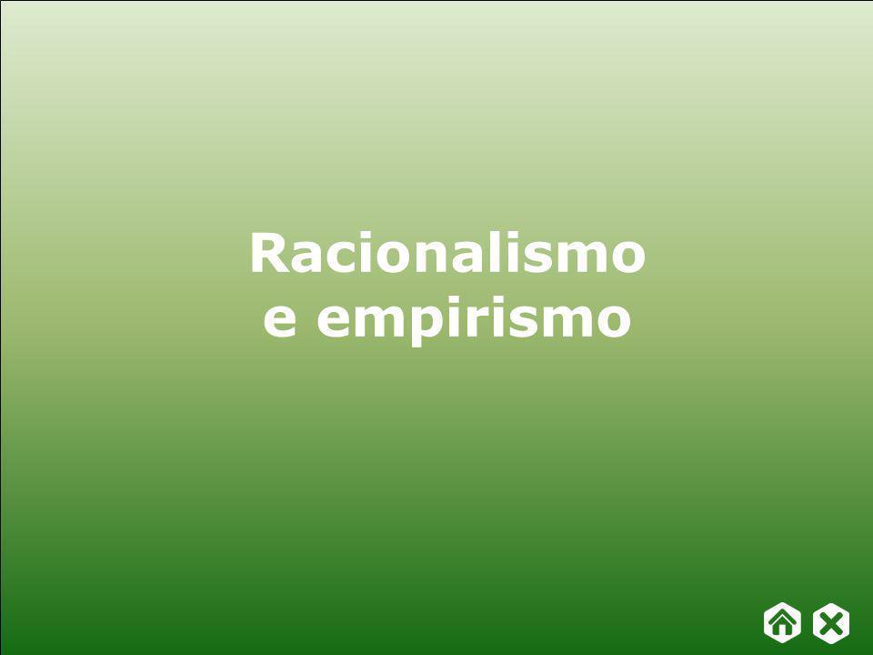 Capítulo 19 – Racionalismo e empirismo FILOSOFAR COM TEXTOS: TEMAS E HISTÓRIA DA FILOSOFIA Racionalismo e empirismo