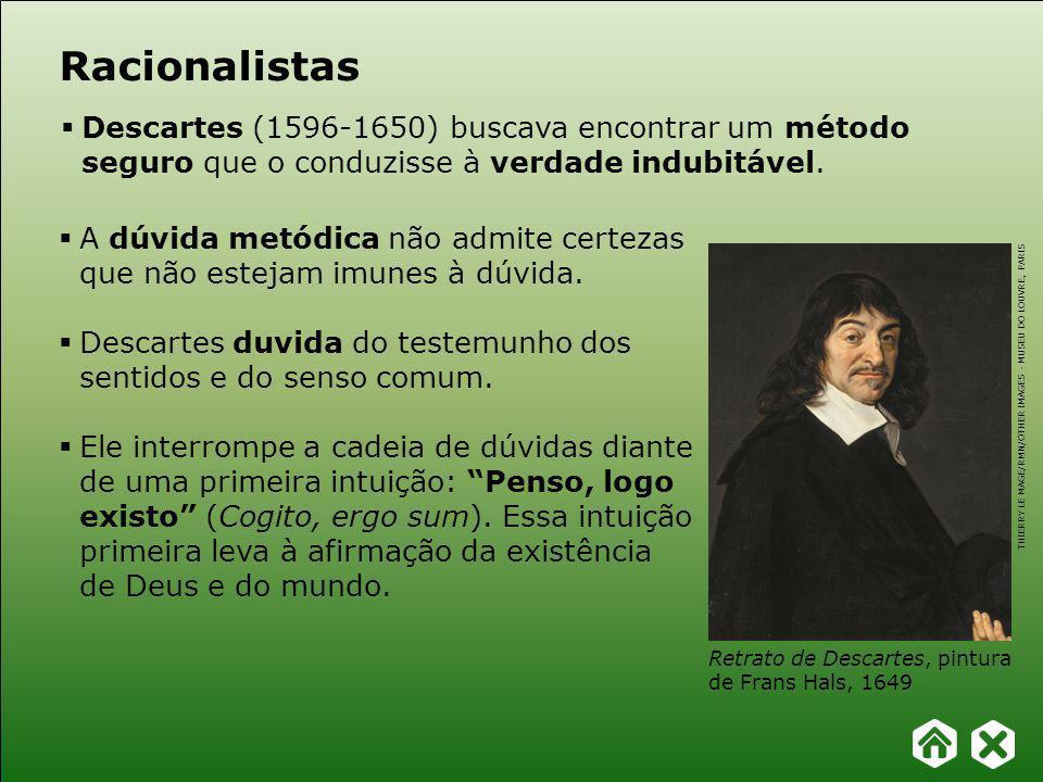 Capítulo 19 – Racionalismo e empirismo FILOSOFAR COM TEXTOS: TEMAS E HISTÓRIA DA FILOSOFIA A dúvida metódica não admite certezas que não estejam imunes à dúvida.
