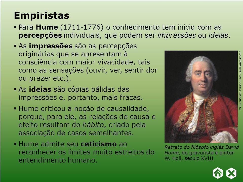 Capítulo 19 – Racionalismo e empirismo FILOSOFAR COM TEXTOS: TEMAS E HISTÓRIA DA FILOSOFIA Empiristas Berkeley (1685-1753) criticou o racionalismo e superou algumas noções dos próprios empiristas.