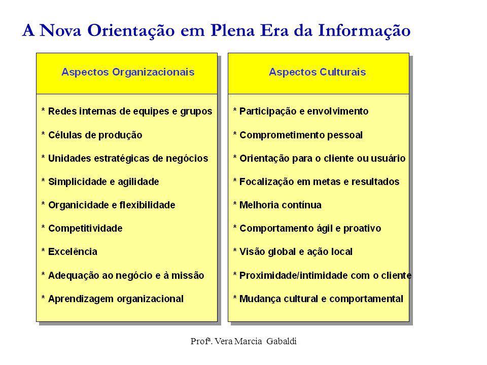 A Nova Orientação em Plena Era da Informação Profª. Vera Marcia Gabaldi