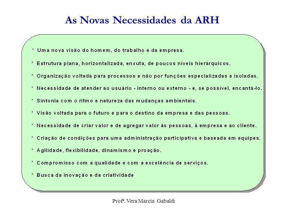 As Novas Necessidades da ARH Profª. Vera Marcia Gabaldi