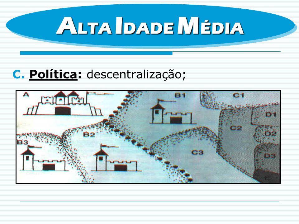 C.Política: descentralização; A LTA I DADE M ÉDIA