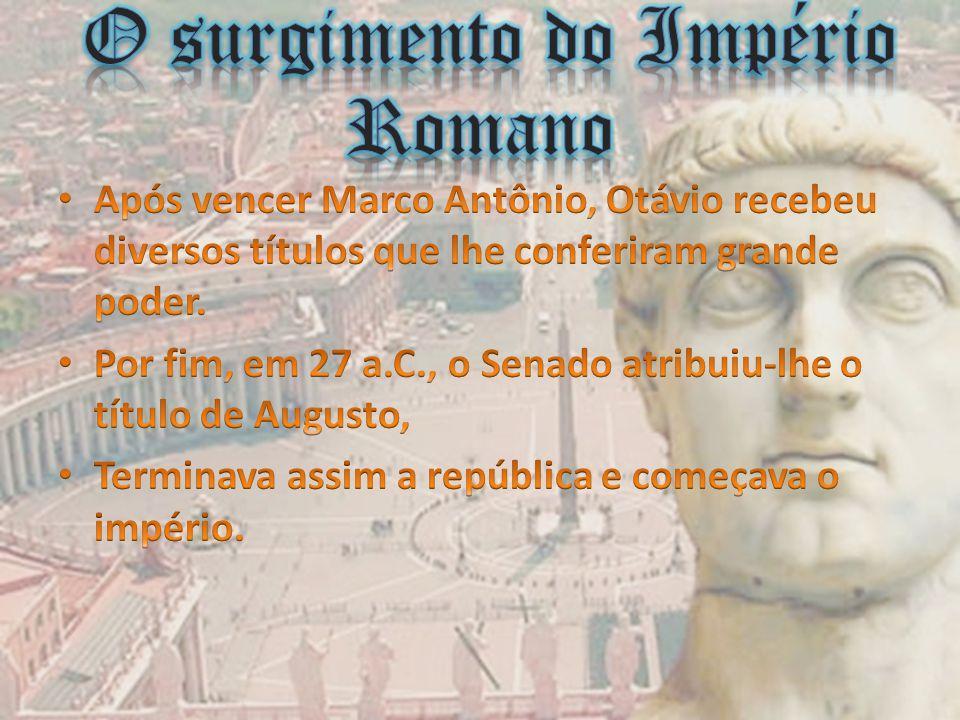 27 a.C.-476 d.C IMPÉRIO 27 a.C.-476 d.C IMPÉRIO DATAS ACONTECIMENTOS 180-192-------------------------- Reinado de Cômodo 193-235--------------------------- Período da Dinastia Severa.