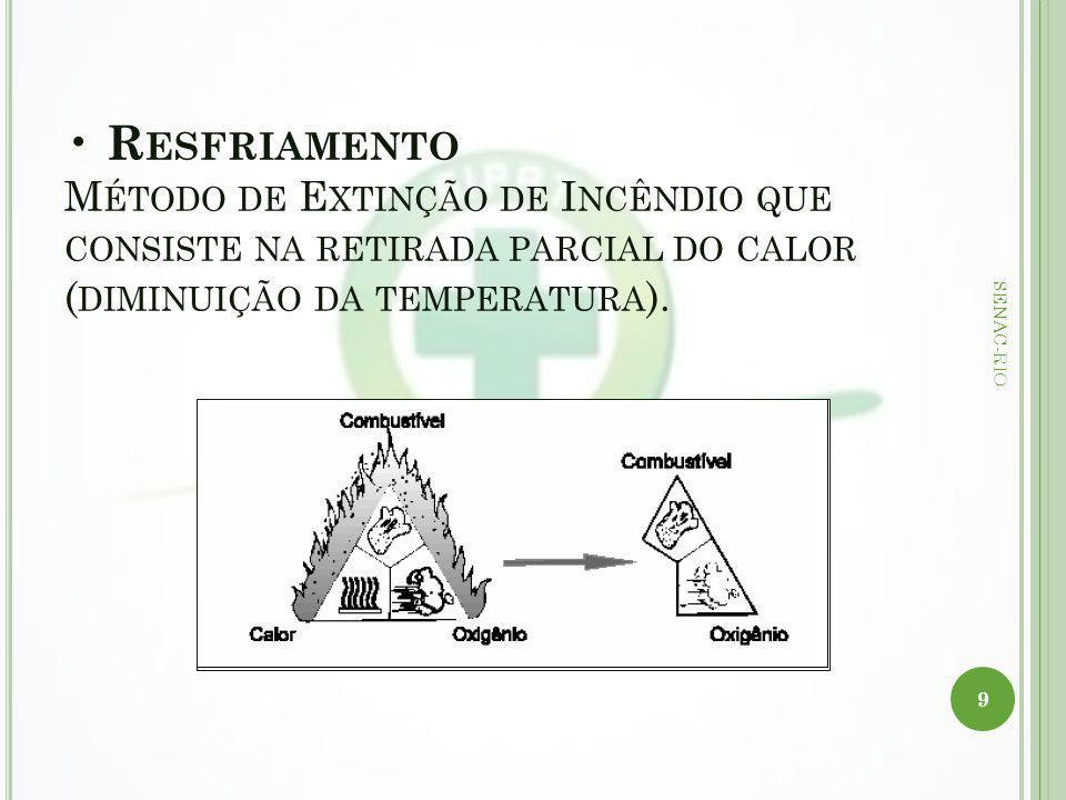 R ESFRIAMENTO M ÉTODO DE E XTINÇÃO DE I NCÊNDIO QUE CONSISTE NA RETIRADA PARCIAL DO CALOR ( DIMINUIÇÃO DA TEMPERATURA ). 9 SENAC-RIO