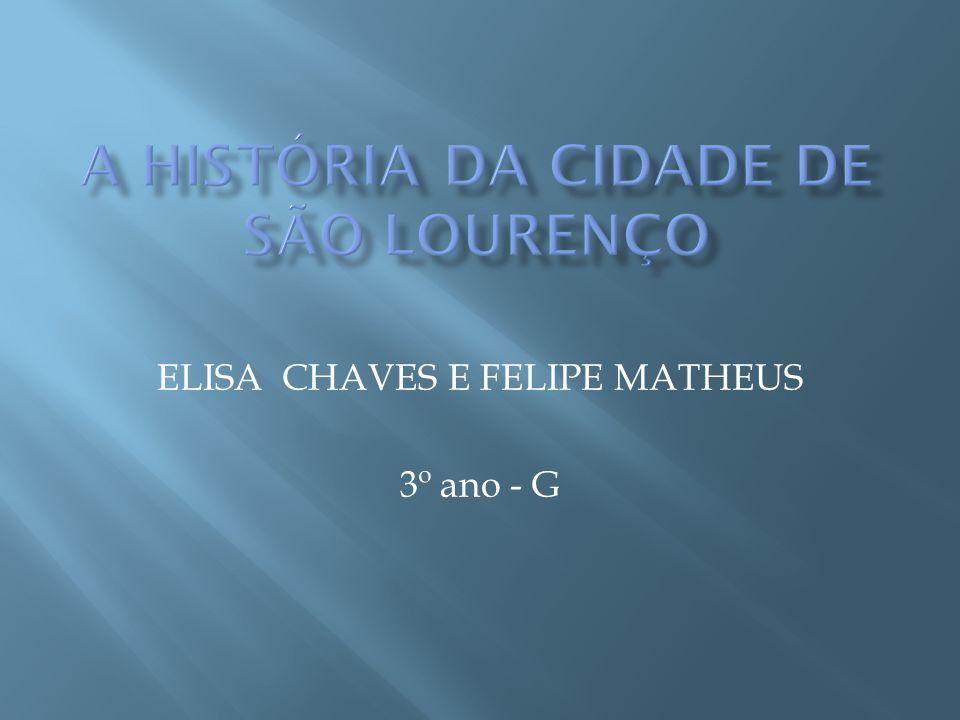 ELISA CHAVES E FELIPE MATHEUS 3º ano - G