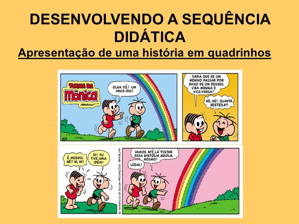DESENVOLVENDO A SEQUÊNCIA DIDÁTICA Apresentação de uma história em quadrinhos