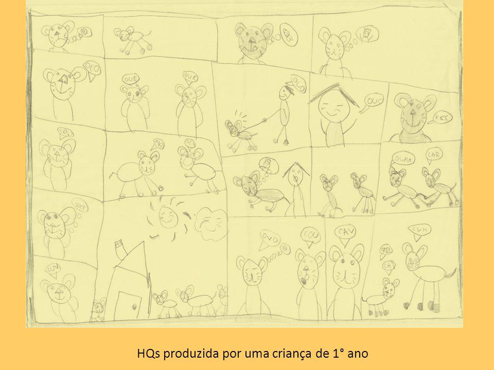 HQs produzida por uma criança de 1° ano