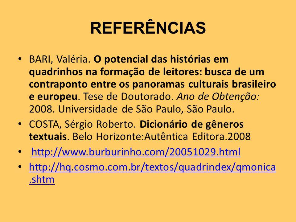 REFERÊNCIAS BARI, Valéria.