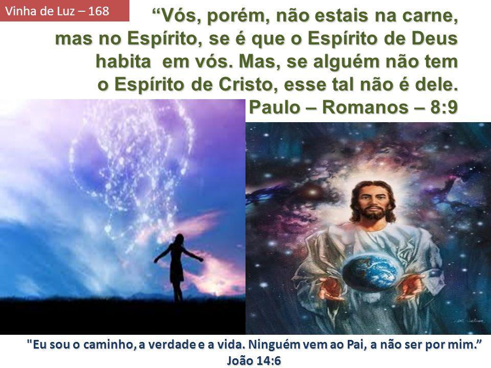 Vós, porém, não estais na carne, mas no Espírito, se é que o Espírito de Deus habita em vós. Mas, se alguém não tem o Espírito de Cristo, esse tal não