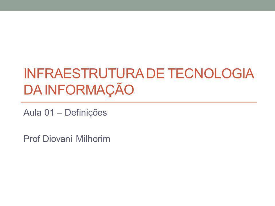 INFRAESTRUTURA DE TECNOLOGIA DA INFORMAÇÃO Aula 01 – Definições Prof Diovani Milhorim