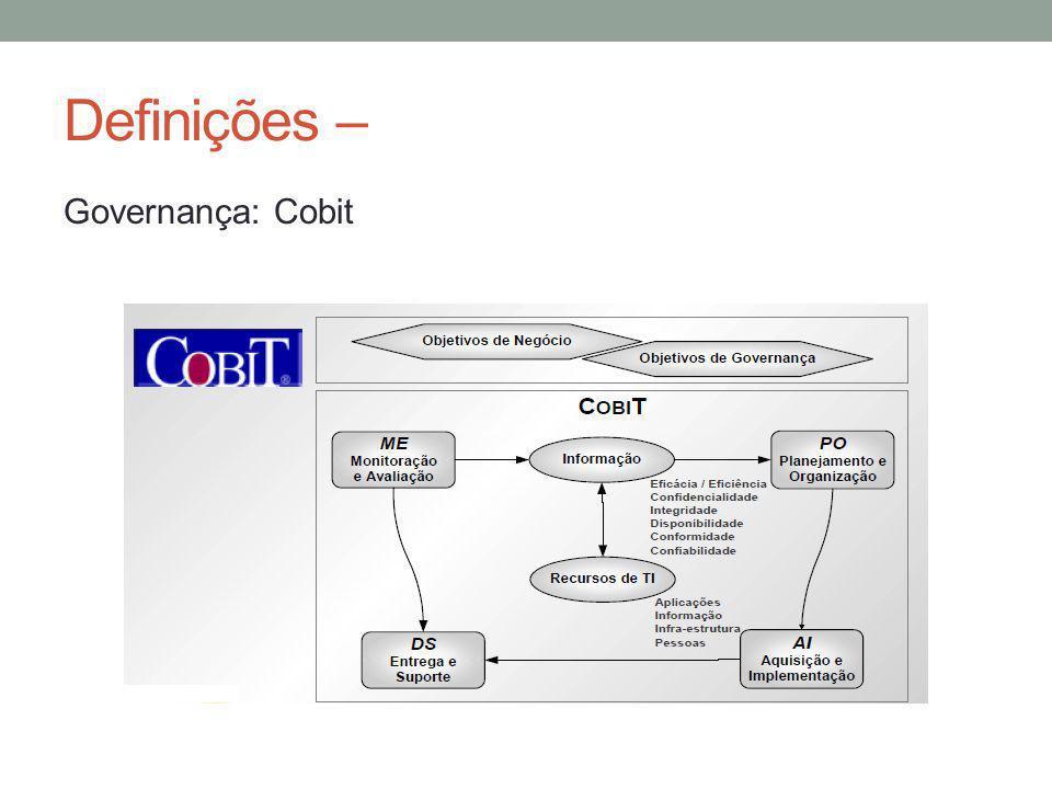 Definições – Governança: Cobit