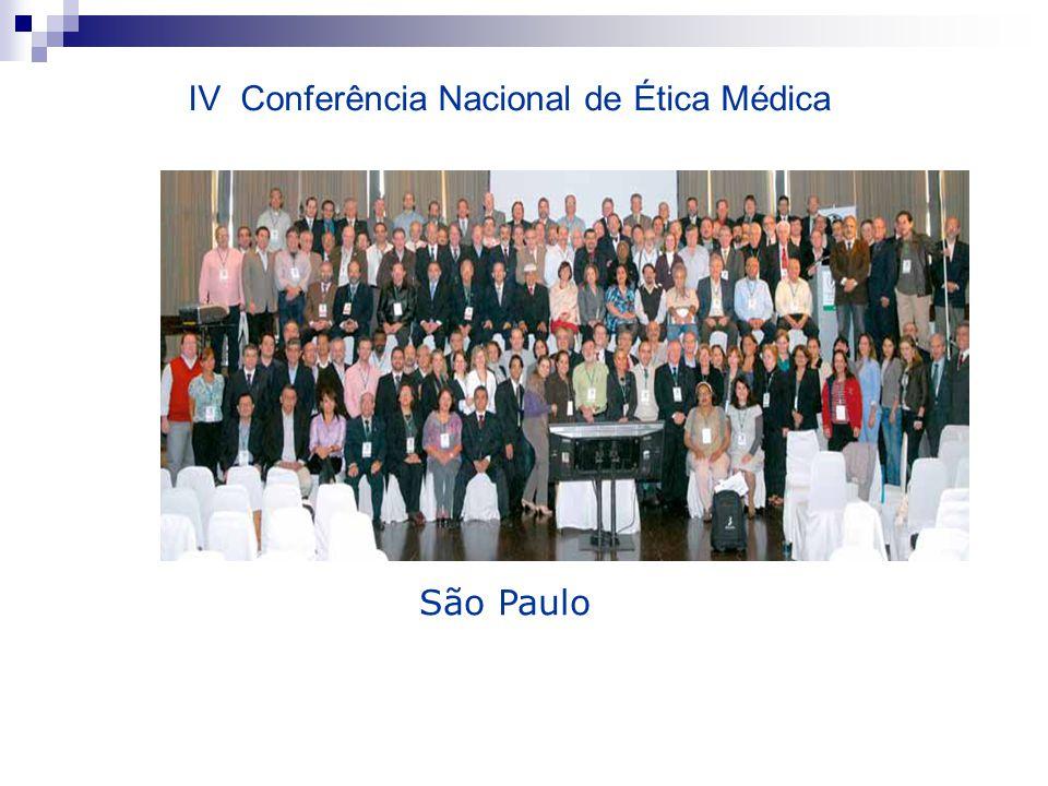 São Paulo IV Conferência Nacional de Ética Médica
