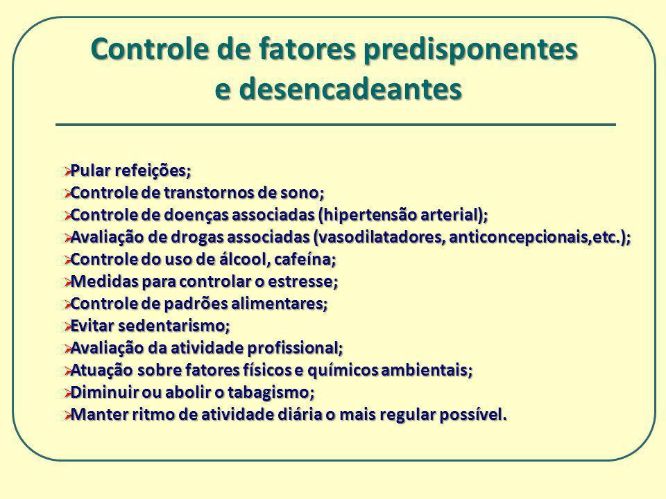 Pular refeições; Pular refeições; Controle de transtornos de sono; Controle de transtornos de sono; Controle de doenças associadas (hipertensão arteri