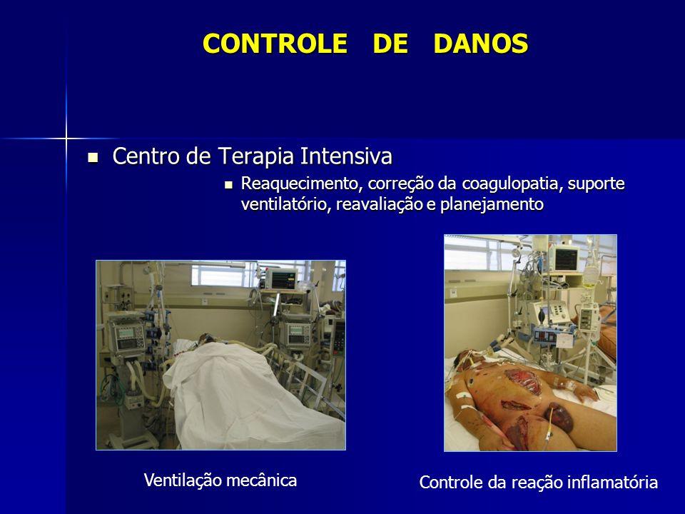 Centro de Terapia Intensiva Centro de Terapia Intensiva Reaquecimento, correção da coagulopatia, suporte ventilatório, reavaliação e planejamento Reaq