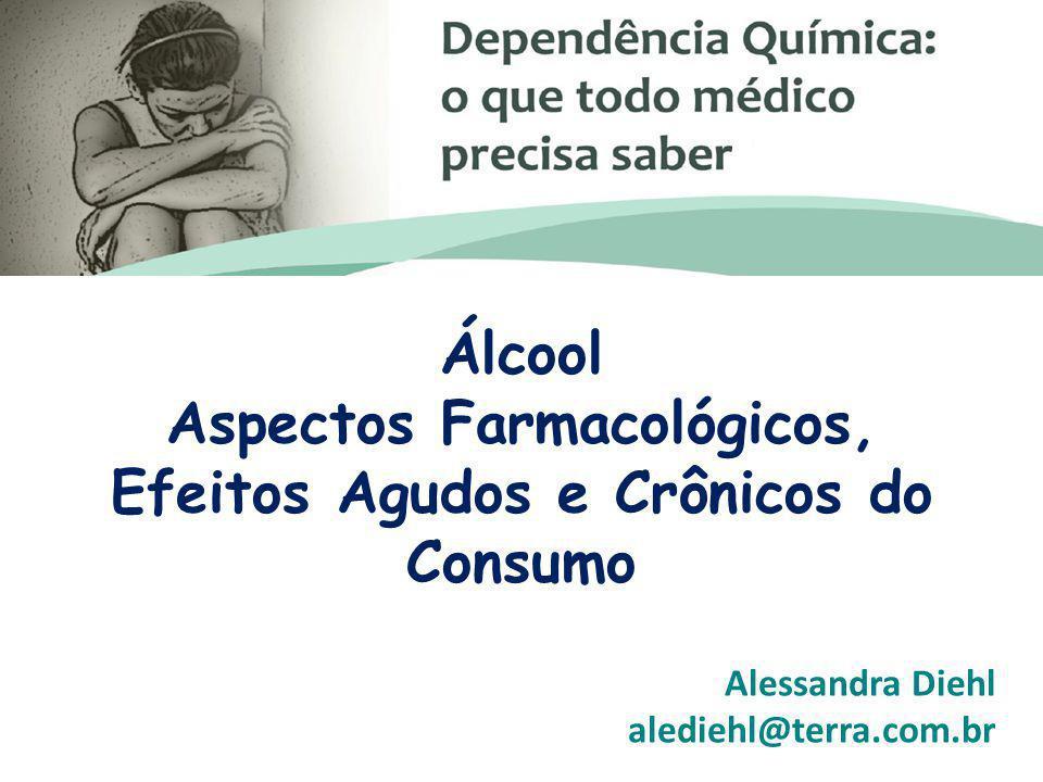 Álcool Aspectos Farmacológicos, Efeitos Agudos e Crônicos do Consumo Alessandra Diehl alediehl@terra.com.br