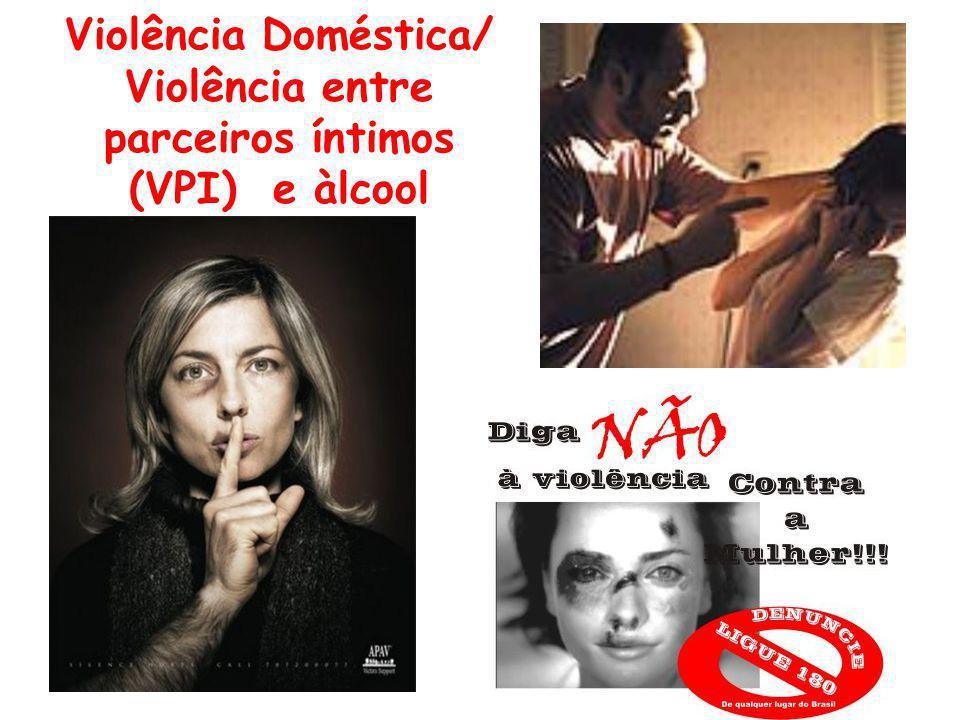 Violência Doméstica/ Violência entre parceiros íntimos (VPI) e àlcool